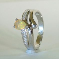 Play of Colors Natural Opal in Solid 925 Sterling Silver Ring Natural Opal, Gemstone Rings, Fine Jewelry, Silver Rings, Gemstones, Play, Sterling Silver, Colors, Accessories