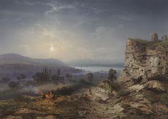 CARLO BOSSOLI LUGANO 1815-TURIN 1884 VIEW OF THE VALLEY OF INKERMANN  1855