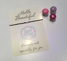 Hello beautiful quote card madebyGreenberry on etsy