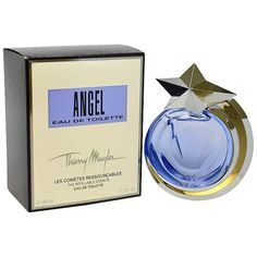 Angel - http://www.perfumes.com/angel-thierry-mugler-women-2-7-oz/ - This was launched by the design house of Thierry Mugler in the year 1992.The nose behind this fragrance is Olivier Cresp and Yves de Chirin.Top notes are Melon, coconut, mandarin orange, cassia, jasmine, bergamot and cotton candy;middle notes are Honey, apricot, blackberry, plum, orchid, peach, jasmine, lily-of-the-valley, red berries and rose.Base notes areTonka bean, amber, patchouli, musk, vani