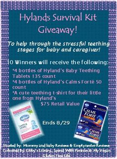 hyland's #teething #survival kit #giveaway