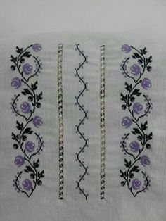 Cross Stitch Borders, Cross Stitch Rose, Cross Stitch Animals, Beaded Embroidery, Cross Stitch Embroidery, Embroidery Patterns, Palestinian Embroidery, Filet Crochet, Needlework