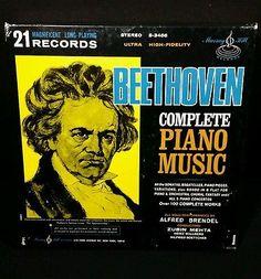 BEETHOVEN COMPLETE PIANO MUSIC  21-RECORD ALBUM  BOX SET WITH BOOKLET vinyl EUC