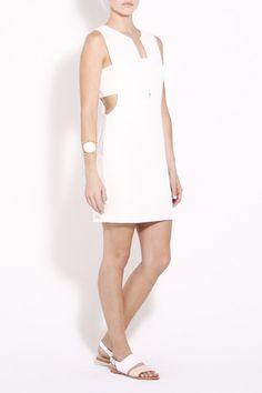 Cutout Mini Dress (White) $89