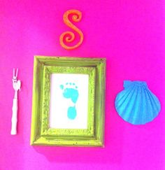 Mermaid nursery wall decor glitter monogram shell dingle hopper toddlers room sign art hanging accessory accessories display theme little