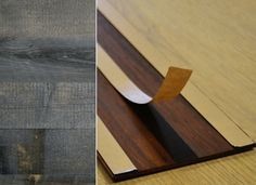 Reclaimed Wood in Peel-and-Stick form! This is awesome and can be used in so many ways. This is much more accessible.