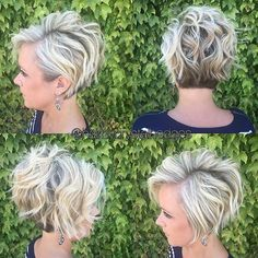 Hairstyle Stylish Messy Hairstyles for Short Hair - Women Short Haircut Ideas by alexandri. Stylish Messy Hairstyles for Short Hair - Women Short Haircut Ideas by alexandria Corte Y Color, Trendy Hairstyles, Short Haircuts, Glasses Hairstyles, Hairstyles 2018, Wedding Hairstyles, Shag Hairstyles, Messy Short Hairstyles, Short Messy Bob