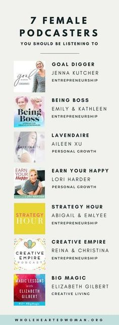 7 Female Podcasters You Should Be Listening To Personal Growth & Development Life Advice Entrepreneurship Podcasts