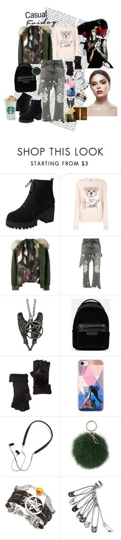 """Casual Friday"" by iyoana45 ❤ liked on Polyvore featuring Moschino, Mr & Mrs Italy, R13, STELLA McCARTNEY, Shiraleah, Casetify, Polaroid, Coccinelle and Gucci"