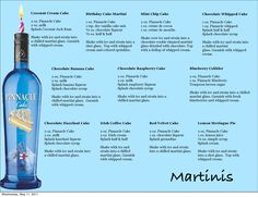 Pinnacle Cake Martini Recipes Page