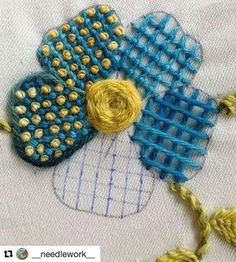 Embroidery Stitches - fill with French Knots.