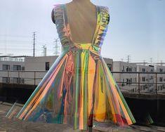 Ruffle Suspender Dress,Holographic Dress,Circle Dress,Vinyl Dress,Festival Dress,Overall Dress,Rave Dress,Waterproof Dress Holographic Dress, Holographic Fabric, Rave Shorts, Vinyl Dress, Burning Man Outfits, Transparent Dress, Circle Dress, Suspender Dress, Vinyl Fabric