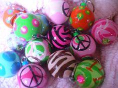 Wooden Ball Bubble Key Chains by bubblesandcompany on Etsy, $8.00