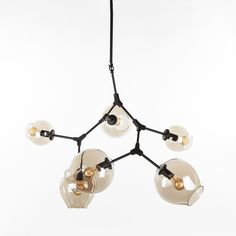 Six Globe Branching Bubble Ceiling Lamp - Black http://www.franceandson.com/six-globe-branching-bubble-ceiling-lamp-black.html