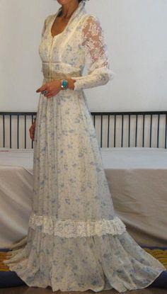 LOVE THIS LOVE THIS LOVE THIS - LOVE GUNNE SAX - Gunne Sax hippie wedding dress vintage