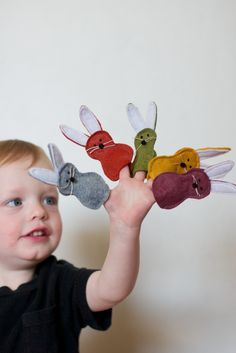 Tiny bunny Finger puppets. Very fun for the kiddos. Pre school, Sunday School, Gifts, Easter, Spring