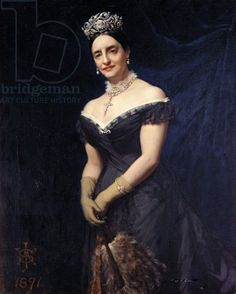 Janetta, Duchess of Rutland, wearing the large floral tiara, in a painting dated 1891.