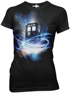 Doctor Who Tardis in Space Junior's T-Shirt, Black, Small Doctor Who,http://www.amazon.com/dp/B008DJ28TQ/ref=cm_sw_r_pi_dp_xzCurb46A3F2469F