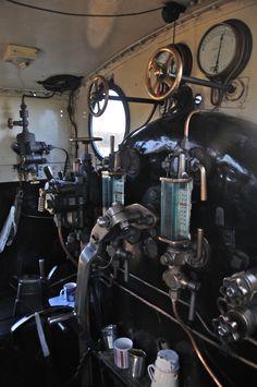 steam engine controls  Engineer , Fireman , Brakeman & Conductor .