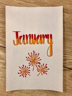 Bullet Journal – January Cover Tutorial bujo bullet journal cover january month monthly cover January orange red calligraphy bicolor orange red pollen flowers firework diy do it yourself original idea writing for greeting card journaling arts and crafts Bullet Journal Inspo, January Bullet Journal, Bullet Journal Cover Page, Bullet Journal Spread, Journal Covers, Journal Layout, Book Journal, Journals, Bullet Journal Calligraphie