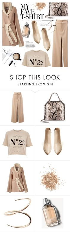 """Flesh-color"" by edita1 ❤ liked on Polyvore featuring Chloé, STELLA McCARTNEY, River Island, The Row, Topshop, Charlotte Chesnais, Burberry and MyFaveTshirt"