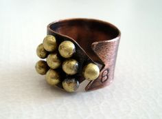 UNIQUE handmade  rustic organic sculptural ring by BaccaraJewelry, $45.00