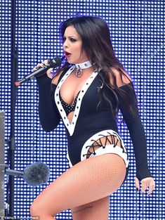 Jesy Nelson shows off her killer chest at Capital FM's Summertime Ball