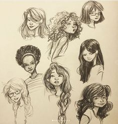 作者:Amelia Pendleton - New Images Cute Drawings, Drawing Sketches, Pelo Anime, Hair Illustration, Hair Sketch, Basic Drawing, Hair Reference, How To Draw Hair, Drawing Techniques