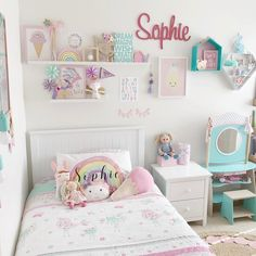 Trendy room decor girly big girls 56 ideas - All About Decoration Big Girl Bedrooms, Little Girl Rooms, Little Girls Room Decorating Ideas Toddler, 4 Year Old Girl Bedroom, Kids Bedroom Girls, Kids Girls, Girl Bedroom Designs, Bedroom Ideas, Toddler Rooms