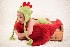 Dinosaur Hat and Diaper Cover Set