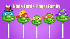 Finger Family Ninja Turtle Lollipops Nursery Rhyme | Top 10 Finger Famil...