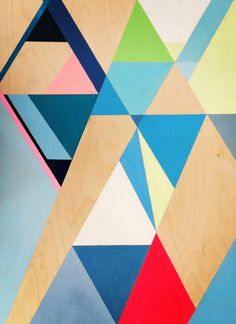 Geometric series. Acrylic on Birch Ply wood.