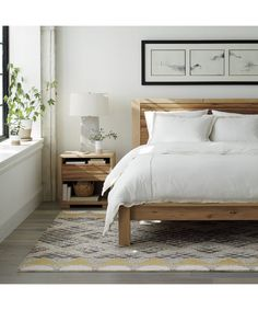 Bianca White/Natural Duvet Covers and Pillow Shams | Crate and Barrel