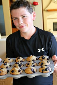 Healthy Banana Blueberry Muffins 2