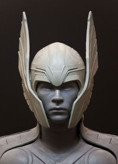 original Thor and Loki helmet sculpts for the movie THOR created by Ironhead studio's