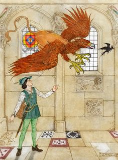Debra McFarlane Illustrator: 'The Man Without a Heart' From 'The Pink Fairy Book' by Andrew Lang.