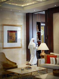Raffles Dubai Hotel Living Area http://ilovedubai.co/ #hotel #dubai #travel