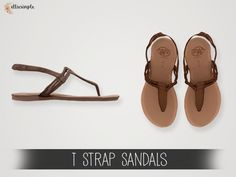 The Sims 4 Elliesimple - T Strap Sandals