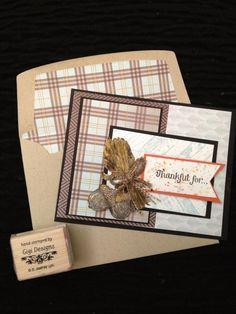 Harvest of Thanks  with envelope liner