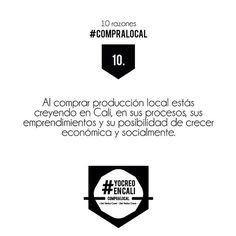 Crees en Cali? Si es así, nuestra ciudad necesita a muchos más como tu y como yo! ❤️ #10razonesparacomprarlocal  #YoCreoEnCali #YoComproLocal #CompraLocal