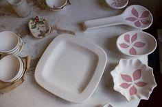 Painting and decorating  #artesia #handmade #ceramics #pottery #tuscany