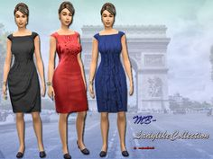 MB-LadylikeCollection Drei elegante, damenhafte Kleider im Etui-Stile mit verschiedenen Designs, jeweils in fünf verschiedenen Farben, für die modebewußte Sims 4 Dame, kreiert von matomibotaki  Three elegant, ladylike dresses in case style with different styles, each available in five different colors for the fashion-conscious lady Sims 4, created by matomibotaki  https://www.allaboutsims.net/forum/index.php/Thread/15958-MB-LadylikeCollection/?postID=77721#post77721