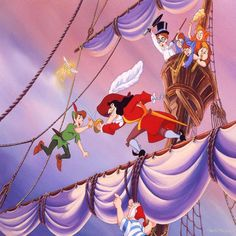 Peter Pan and Captain Hook Fight