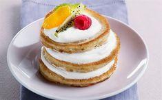 Jogurtové lívanečky s čerstvým ovocem Muesli, Kefir, Desert Recipes, Pancakes, Lunch, Breakfast, Sweet, Food, English