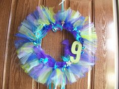 9 year old girl birthday party wreath