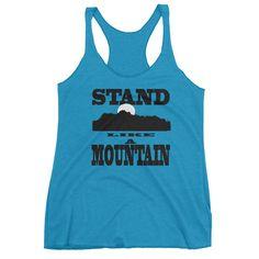 STAND LIKE A MOUNTAIN Women's tank top