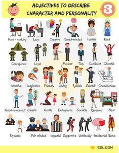 Useful adjectives for describing character and personality in English. Learn English Grammar, English Language Learning, English Writing, English Study, English Class, English Lessons, Teaching English, List Of Adjectives, English Adjectives