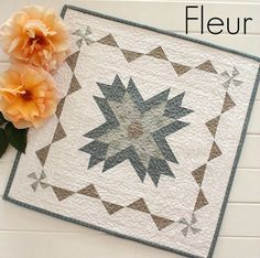 Threadbare Creations- Fleur Mini Quilt                                                                                                                                                                                 More