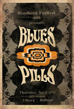 Blues Pills Psychedelic Concert Poster