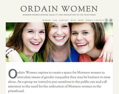 Mormon women seeking equality and ordination to the priesthood!